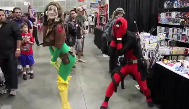 Watch and share Deadpool Vs Comikaze Expo 2012 GIFs on Gfycat