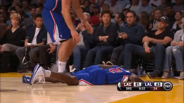 Watch Blake Griffin helps Darren Collison up, but gives him a wedgie. (reddit) GIF by @chanandlerer on Gfycat. Discover more nba GIFs on Gfycat