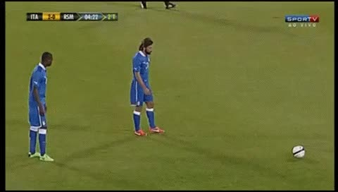 Watch and share Andrea Pirlo. Italy - San Marino. 31.05.2013 GIFs by fatalali on Gfycat