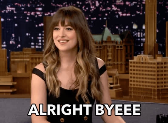 bye, byeee, dakota johnson, g2g, ok bye, see ya, tonight show, Dakota Johnson Bye GIFs