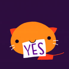cat, cute, excited, happy, kitty, oui, pet, si, sweet, yay, yeah, yes, Yes GIFs