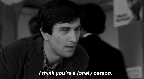 alone, lonely, robert de niro, taxi driver GIFs