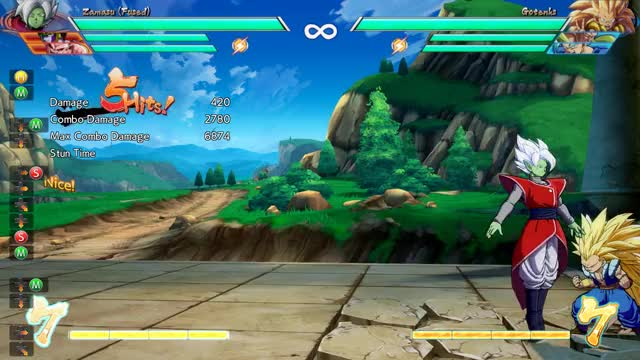 Watch Zamasu Corner Cell Extension Delay 2M 5M GIF on Gfycat. Discover more Dragon Ball FighterZ, dbfz GIFs on Gfycat
