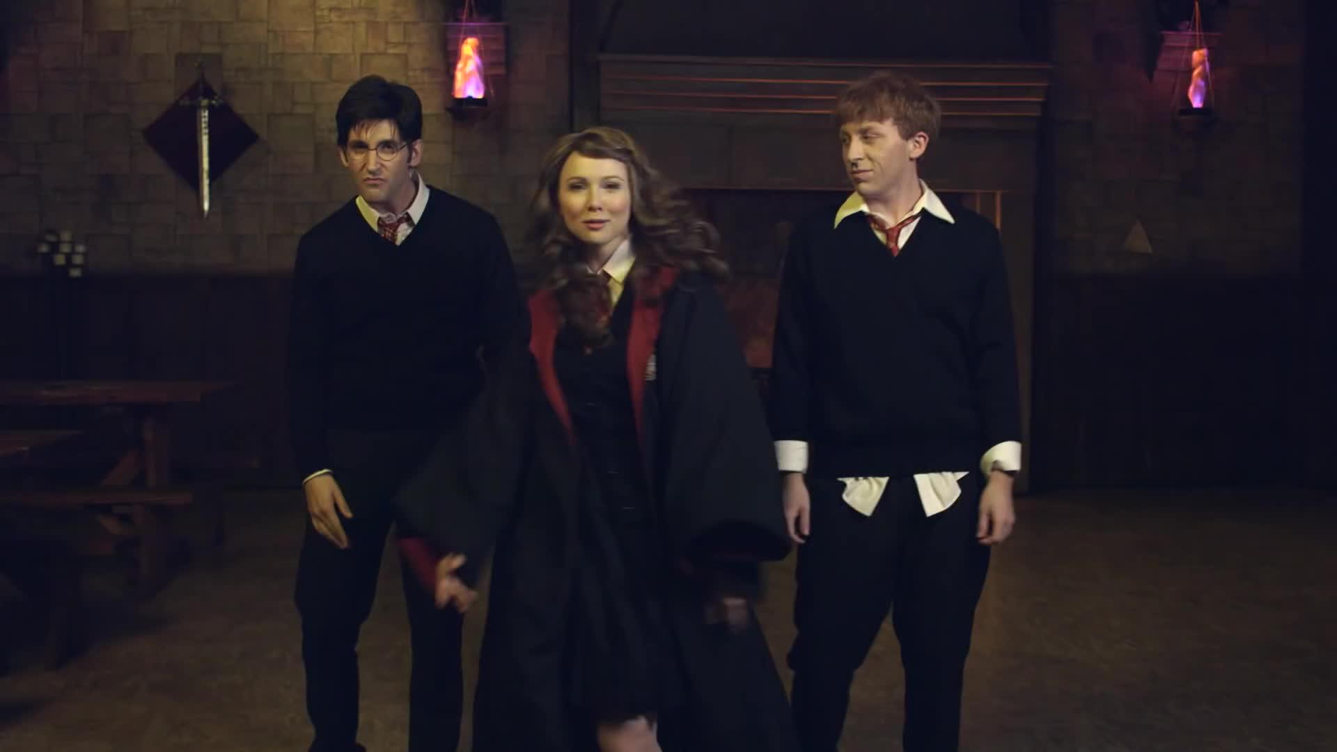hermione, mollycquinn, princess rap battle, KATNISS vs HERMIONE: Princess Rap Battle (Molly C. Quinn & Whitney Avalon) GIFs