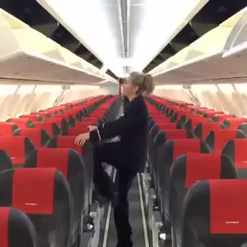Flight attendant flexibility GIFs