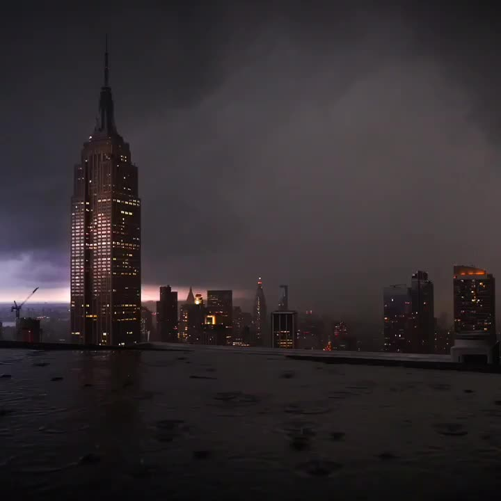 new york, night, raining, NYC 💦 GIFs