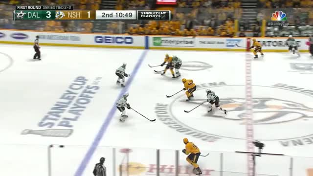 Watch [Stars 3 - [2] Predators] Johansen snipes one high glove to put the Preds within one GIF by Beep Boop (@hockeyrobotthing) on Gfycat. Discover more hockey GIFs on Gfycat