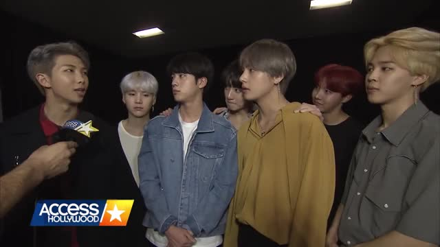 Watch BTS Discusses Their Intensely Loyal Fans & Celeb Crushes! | Access Hollywood GIF by Koreaboo (@koreaboo) on Gfycat. Discover more Access Hollywood, bangtan boys, bts k-pop, bts kpop, interviews, j-hope bts, jungkook, k-pop, rm, television GIFs on Gfycat