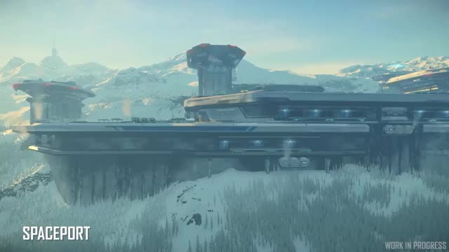 Watch and share Star Citizen New Babbage Spaceport GIFs by OlegLime on Gfycat
