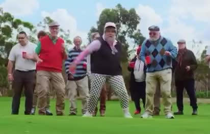 I, and, dance, dancing, dumb, eldery, funny, golf, grandfather, grandpa, lol, monkey, moves, old, party, sexy, silly, tones, weekend, wow, TONES AND I - DANCE MONKEY GIFs