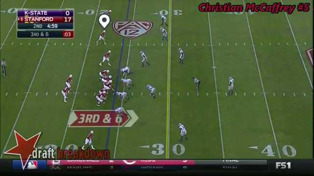 Watch and share Christian McCaffrey (Stanford RB) Vs Kansas State 2016 GIFs by markbullock on Gfycat
