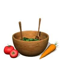 Watch and share Easy Iceberg Wedge Salad Photo: Toss Salad Animatedvegetablesaladinwoodenbowl.gif GIFs on Gfycat