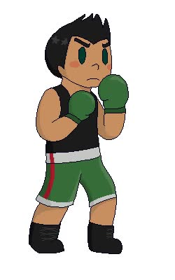 Watch and share Little Mac By Chibininjaotaku animated stickers on Gfycat