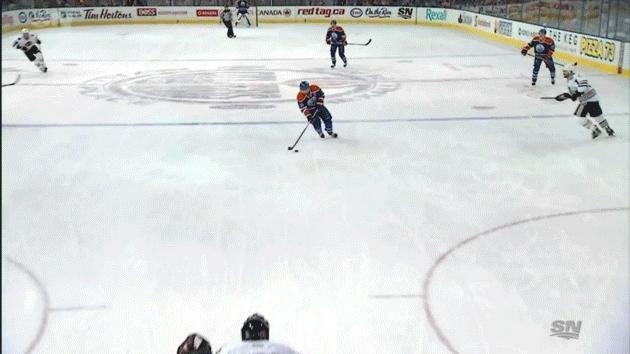edmontonoilers, hockey, Jordan Eberle (2) ASST: Brandon Davidson (1) GIFs