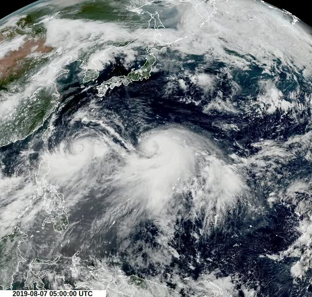 Watch and share Tropical Cyclones Lekima And Krosa - August 7, 2019 GIFs by The Watchers on Gfycat