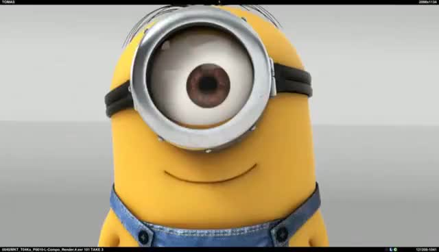 Watch and share Despicable Me Minions - Hello, Kiss GIFs on Gfycat