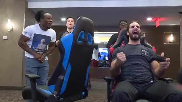 Watch this trending GIF on Gfycat. Discover more AJ, Falcons, PS4, Seth, Sports, bears, champ, championship, gaming, madden, nfl, prince, rematch, rollins, styles, tournament, upupdowndown, wwe GIFs on Gfycat