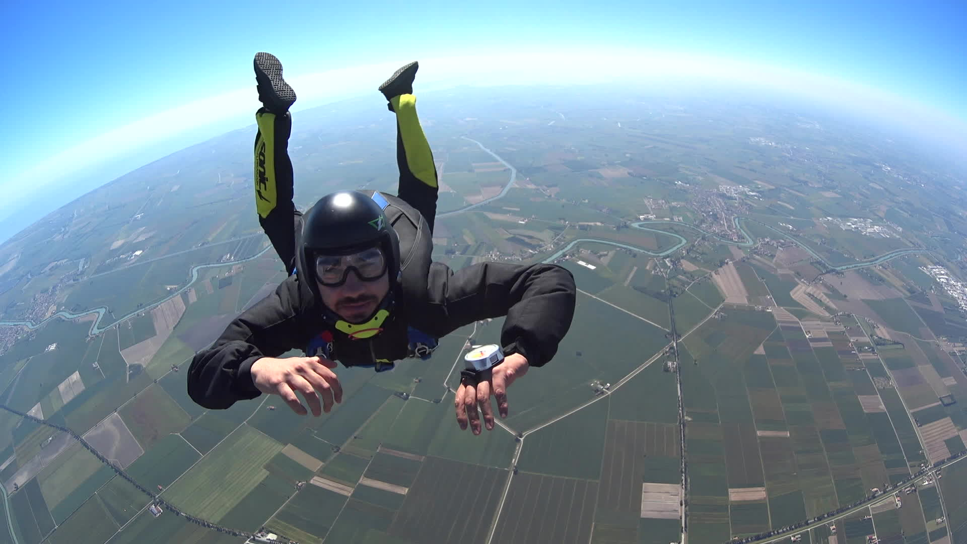 skydive, skydiving, high high five GIFs