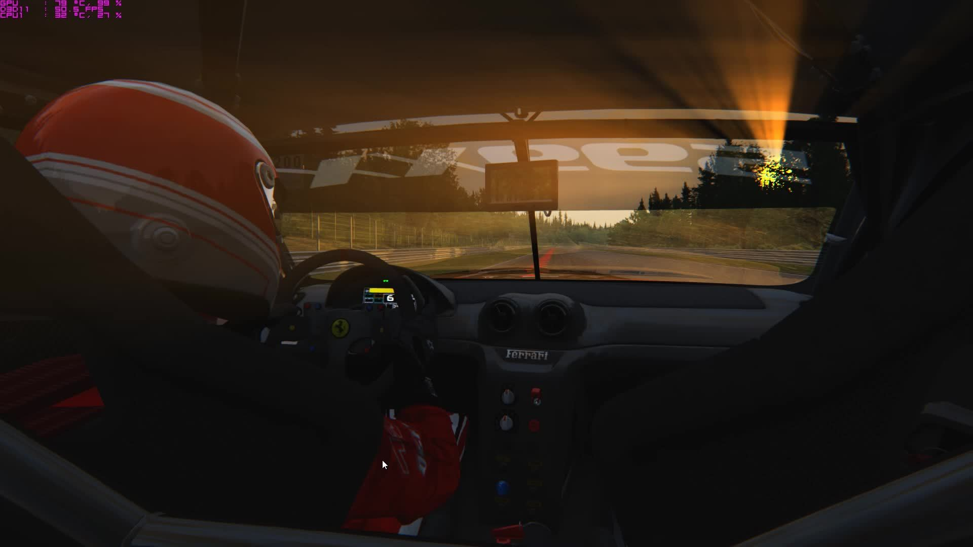 60fpsgaminggifs, Assetto Corsa - Ferrari 599XX Evo (reddit) GIFs