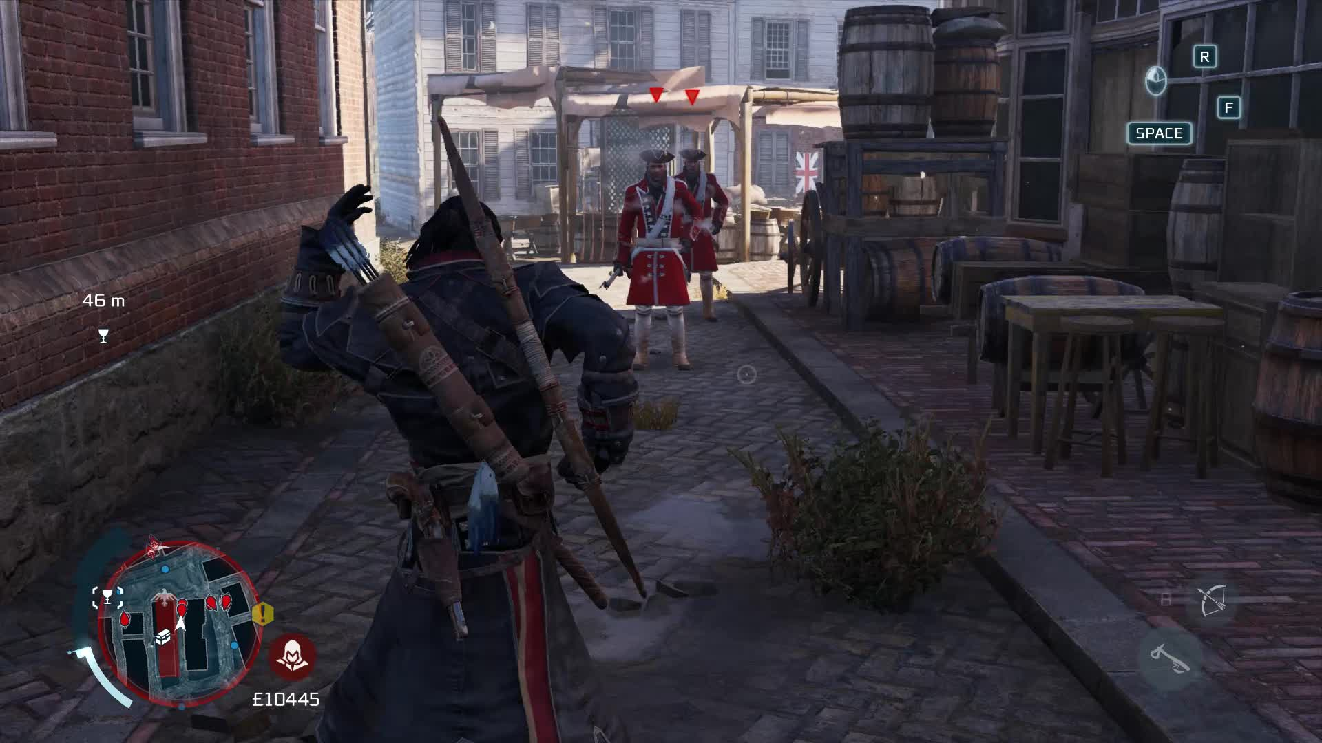 Assassin's Creed 3 Remastered, Two guards, one arrow? GIFs