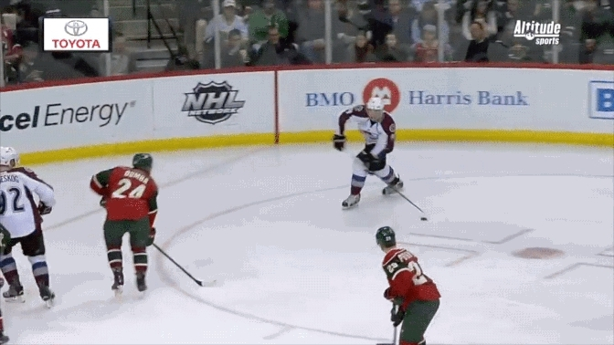 avalanche, coloradoavalanche, hockey, 2016-03-01 Chris Bigras first NHL goal vs Wild GIFs
