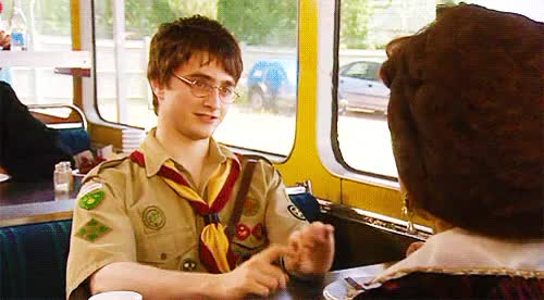 Watch The offer still stands.What offer?You know. GIF on Gfycat. Discover more actually that first gif is really creeping me out!, ashley jensen, daniel radcliffe, extras, my stuff, ricky gervais GIFs on Gfycat
