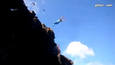 Watch and share Jump Off A Cliff Into The Water Gif Animation Animation GIFs on Gfycat