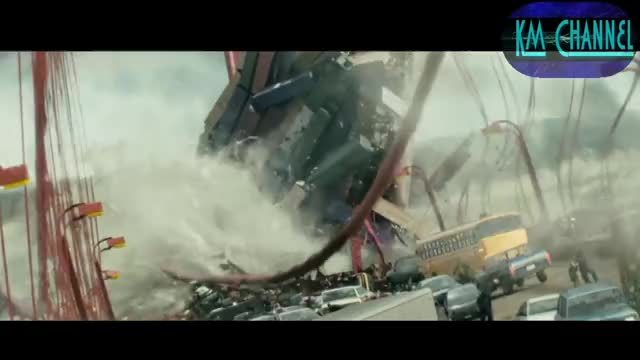 Mega Tsunami (scenes from the film San Andreas 2015) GIF
