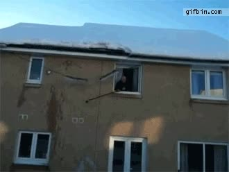 Roof avalanche