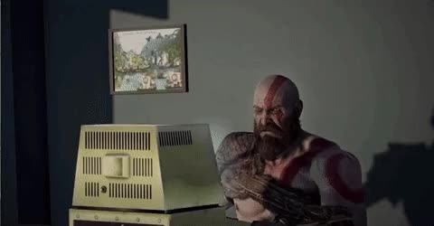 Watch and share Kratos Hates PC Gaming GIFs on Gfycat