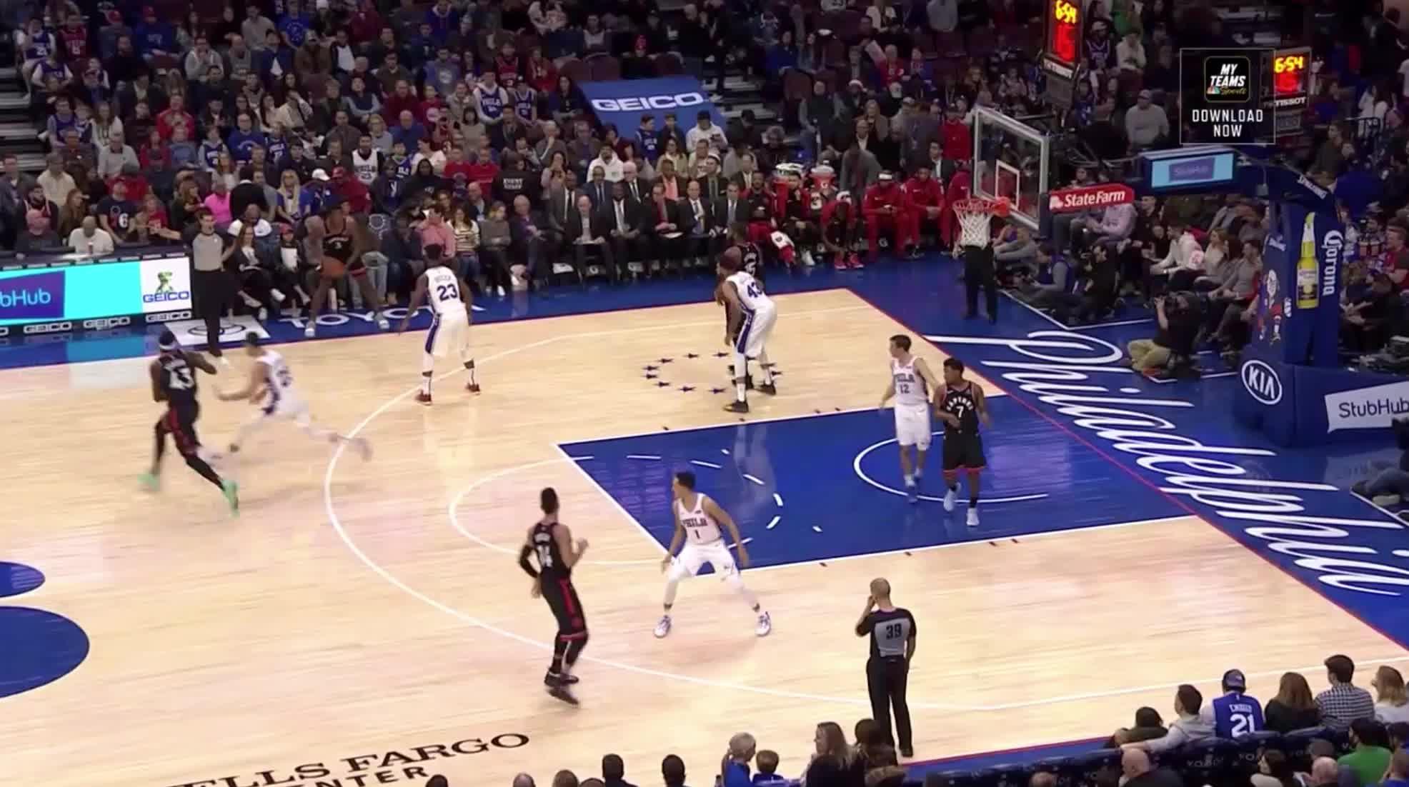NBA, Jonah Bolden_Monroe block and ORB rush GIFs