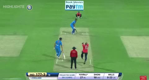 Watch and share Tymal Mills Vs Yuvraj Singh GIFs by Clive  on Gfycat