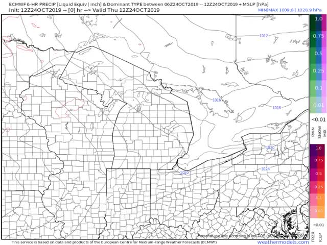 Watch and share 9-km ECMWF USA Cities Great Lakes Precip Type & MSLP GIFs on Gfycat