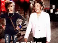 Watch and share Jane Fonda, Lily Tomlin, Grace And Frankie, Bad Ass GIFs on Gfycat