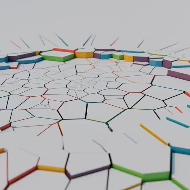 Watch and share Voronoi Extrusion Wave GIFs by Yann Le Gall on Gfycat