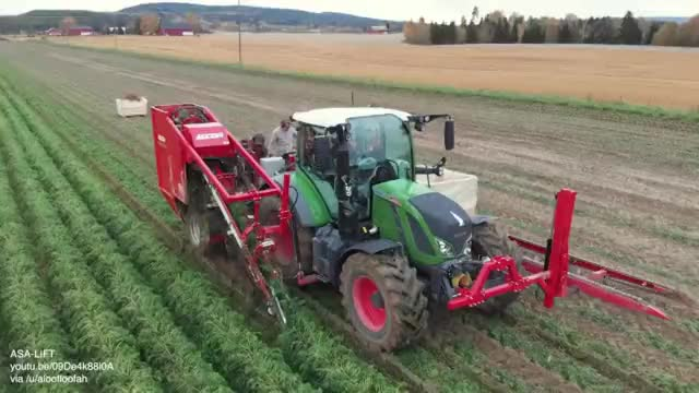 Watch and share Harvesting Carrots With Atop Lifting Harvester GIFs on Gfycat