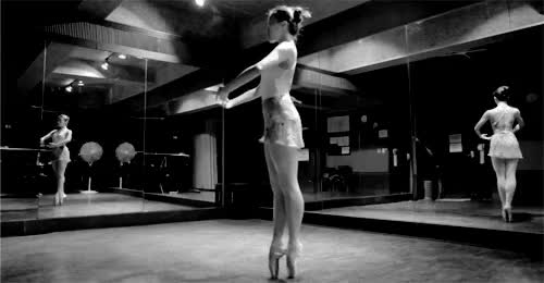 Watch and share Black And White GIFs and Pointe Shoes GIFs on Gfycat