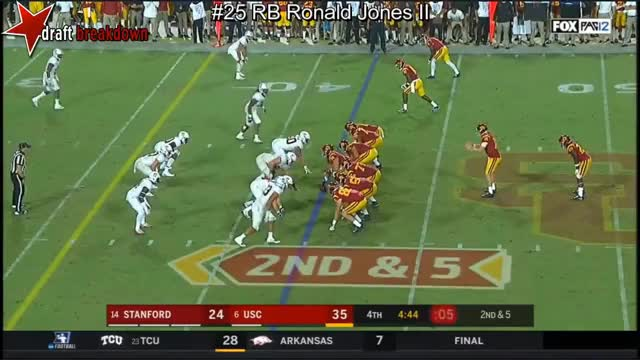 Watch and share RB Ronald Jones II Vs Stanford 2017 GIFs on Gfycat