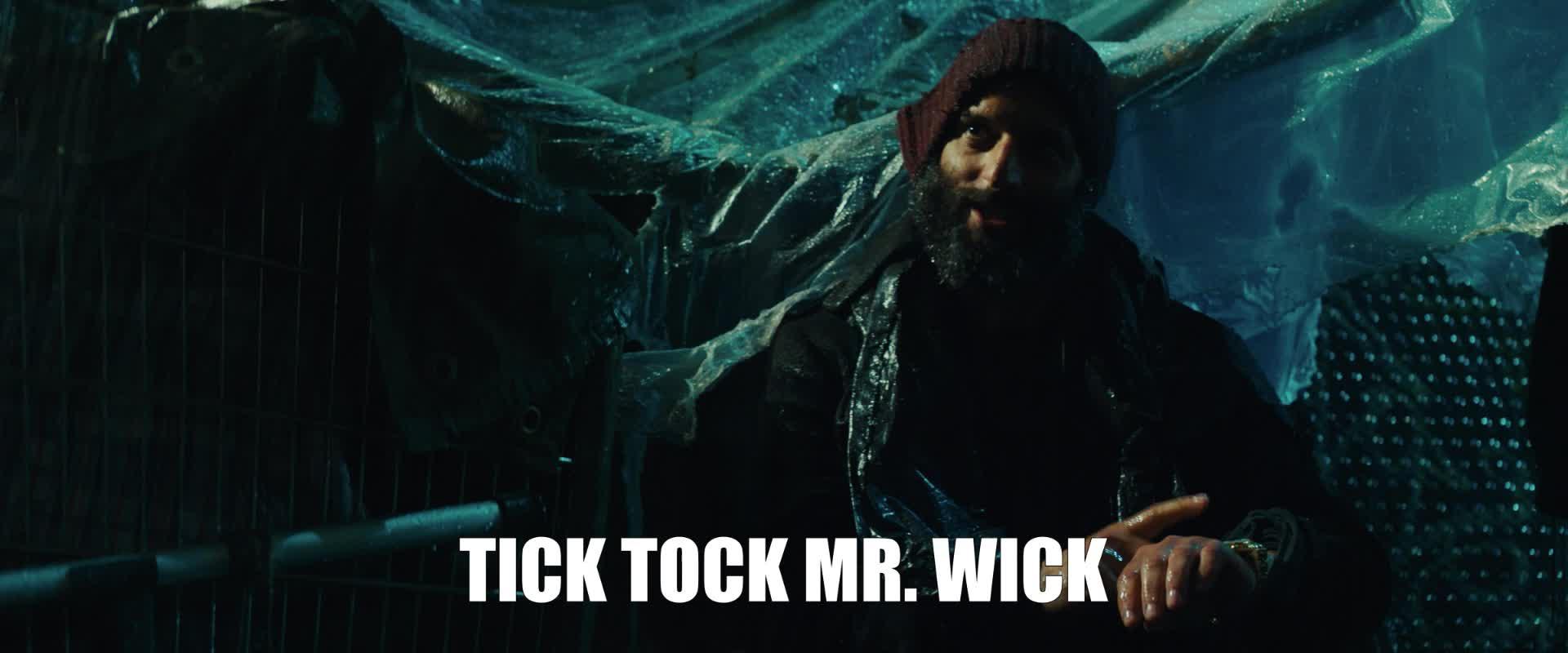 hurry, hurry up, jason mantzoukas, john wick, john wick 3, john wick chapter 3, john wick chapter 3 parabellum, tick tock, time, John Wick Tick Tock Mr Wick GIFs