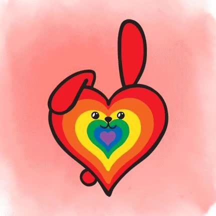 Watch and share Rainbow Heart GIFs on Gfycat
