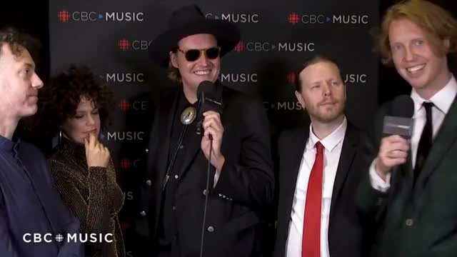 Watch Arcade Fire talk alternative careers - Interview at the 2018 JUNO Awards GIF on Gfycat. Discover more interview GIFs on Gfycat