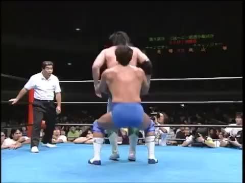 Watch and share Jun Akiyama Vs Mitsuharu Misawa (September 6, 1997) GIFs on Gfycat