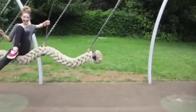 Watch Zoella Swinging GIF on Gfycat. Discover more park, swing, zoella GIFs on Gfycat