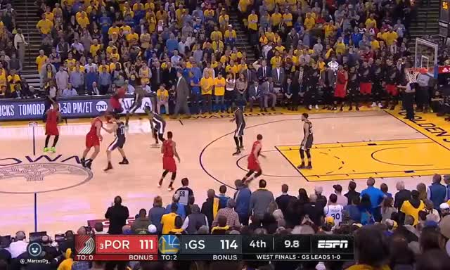 Watch and share Andre Iguodala Steal On Damian Lillard GIFs by MarcusD on Gfycat