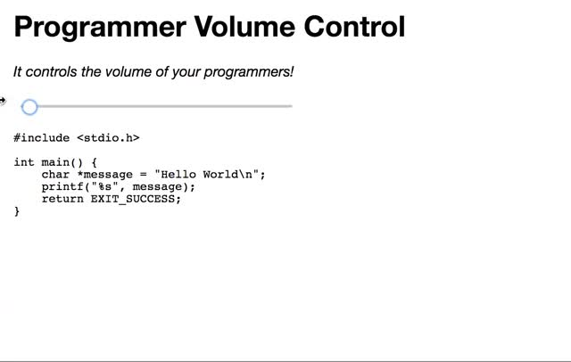 Watch Programmer Volume Control (reddit) GIF on Gfycat. Discover more ProgrammerHumor GIFs on Gfycat