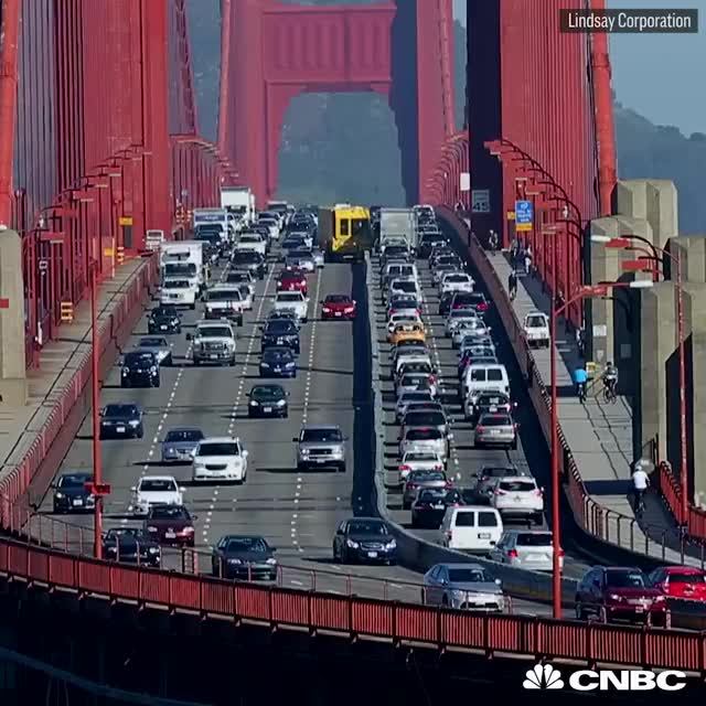 Watch The 'Road Zipper' helps eliminate head-on collisions on the Golden Gate Bridge GIF by gangbangkang (@gangbangkang) on Gfycat. Discover more related GIFs on Gfycat