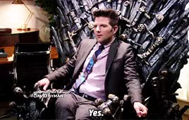 Watch and share Iron Throne GIFs and Adam Scott GIFs on Gfycat