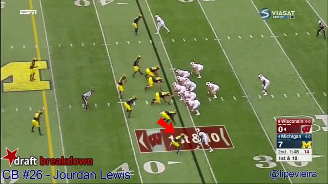 Watch and share Jourdan Lewis Vs Wisconsin 2016 GIFs by sio-kedelic on Gfycat