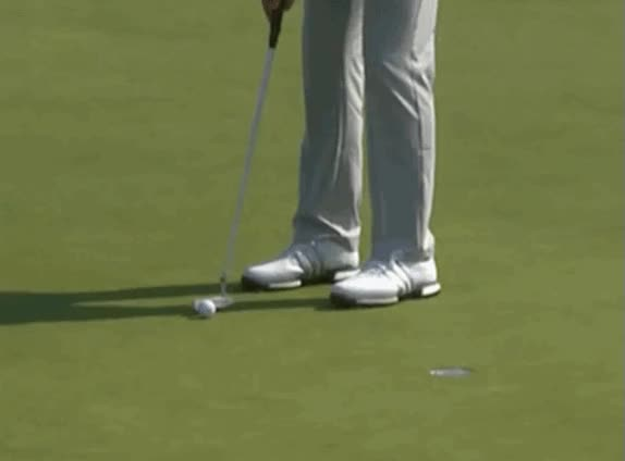 Watch and share Dustin Johnson Catches A Break When Ball Moves Before Grounding During 4th Of US Open GIFs on Gfycat