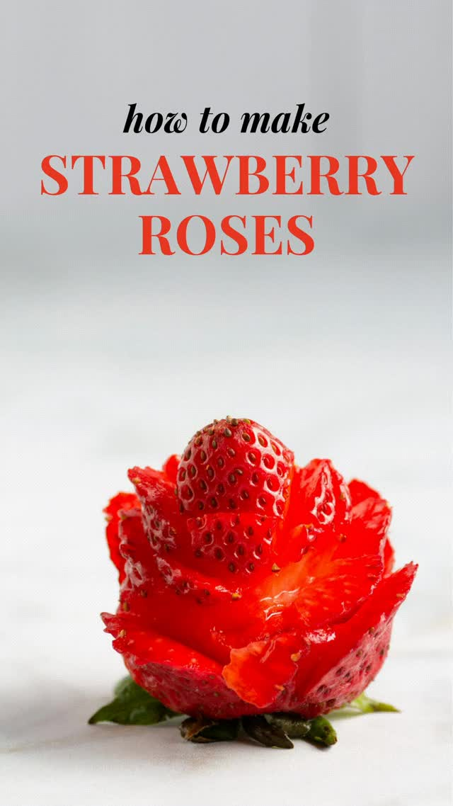 Watch and share How To Make Strawberry Roses GIFs on Gfycat